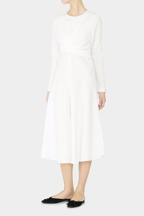IVORY ELSE WRAP DRESS