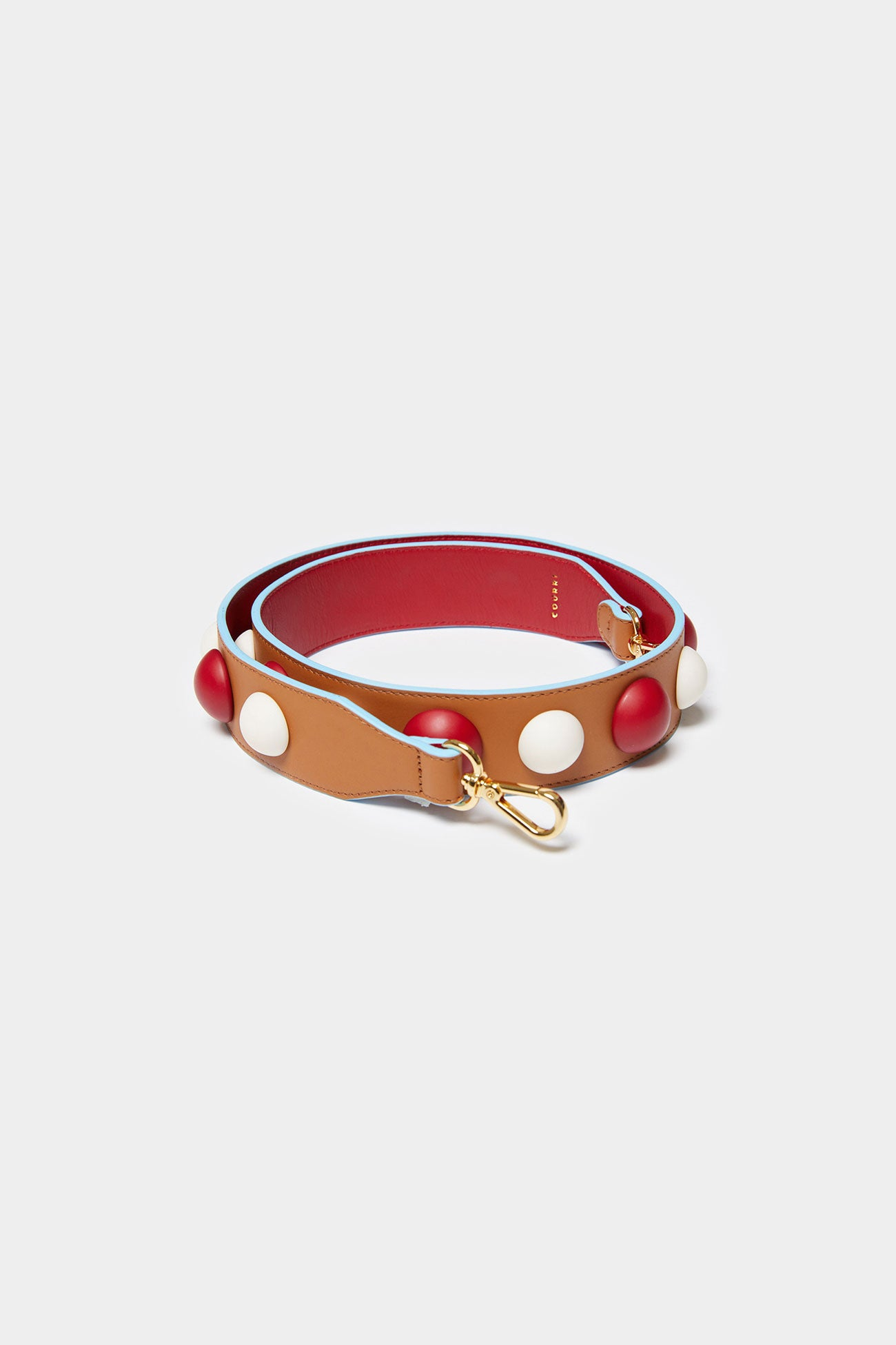 RED MULTI CODIE EMBELLISHED LEATHER STRAP [Long]