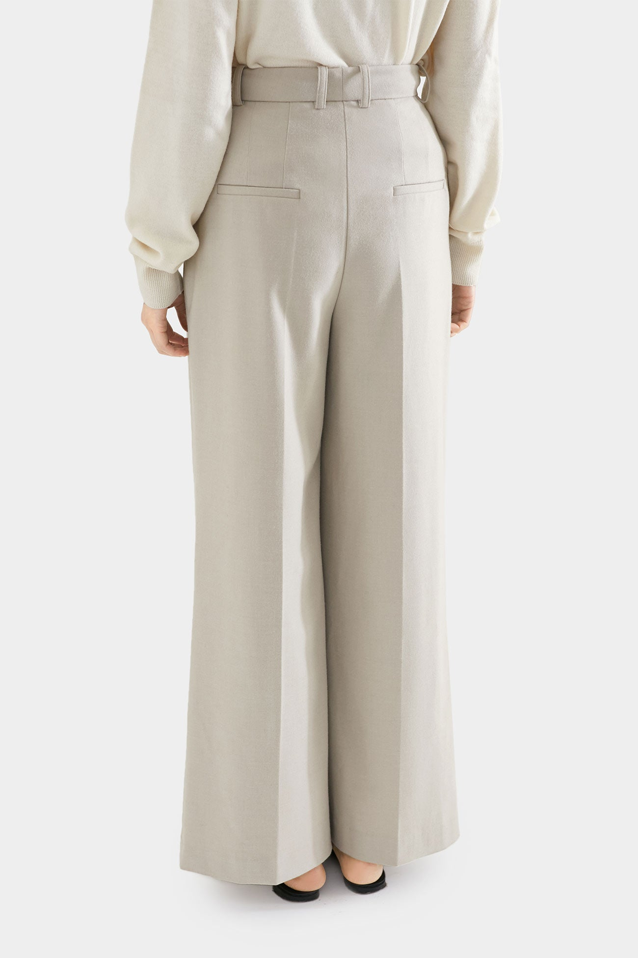 OATMEAL EDDIE LONG WIDE PANTS