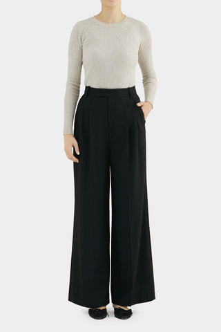 CREAM SIMONE CORDUROY HIGHWAIST PANTS