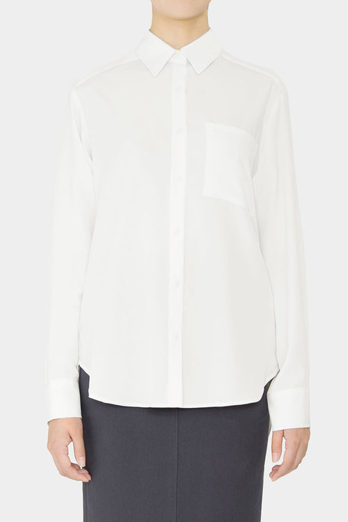 WHITE EMMA CREPE SHIRT