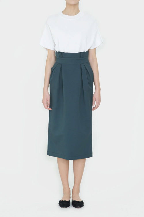 FOREST GREEN JIL TULIP SKIRT