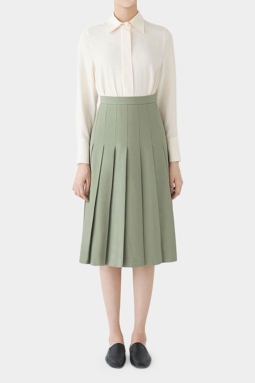 MINT KADE PLEATED SKIRT
