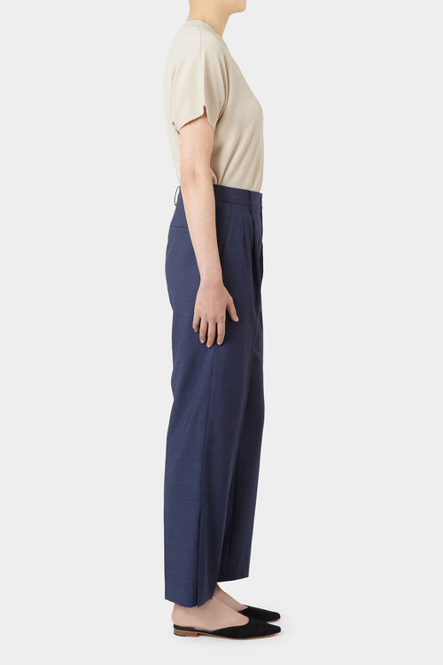 NAVY KRIS SIDE SLIT PANTS