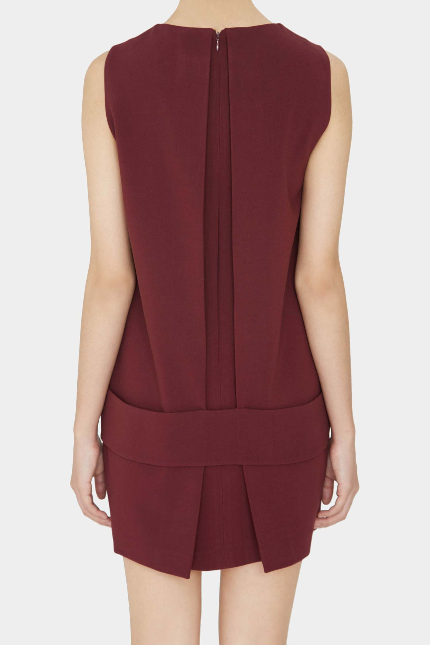 BURGUNDY ALIN MINI DRESS