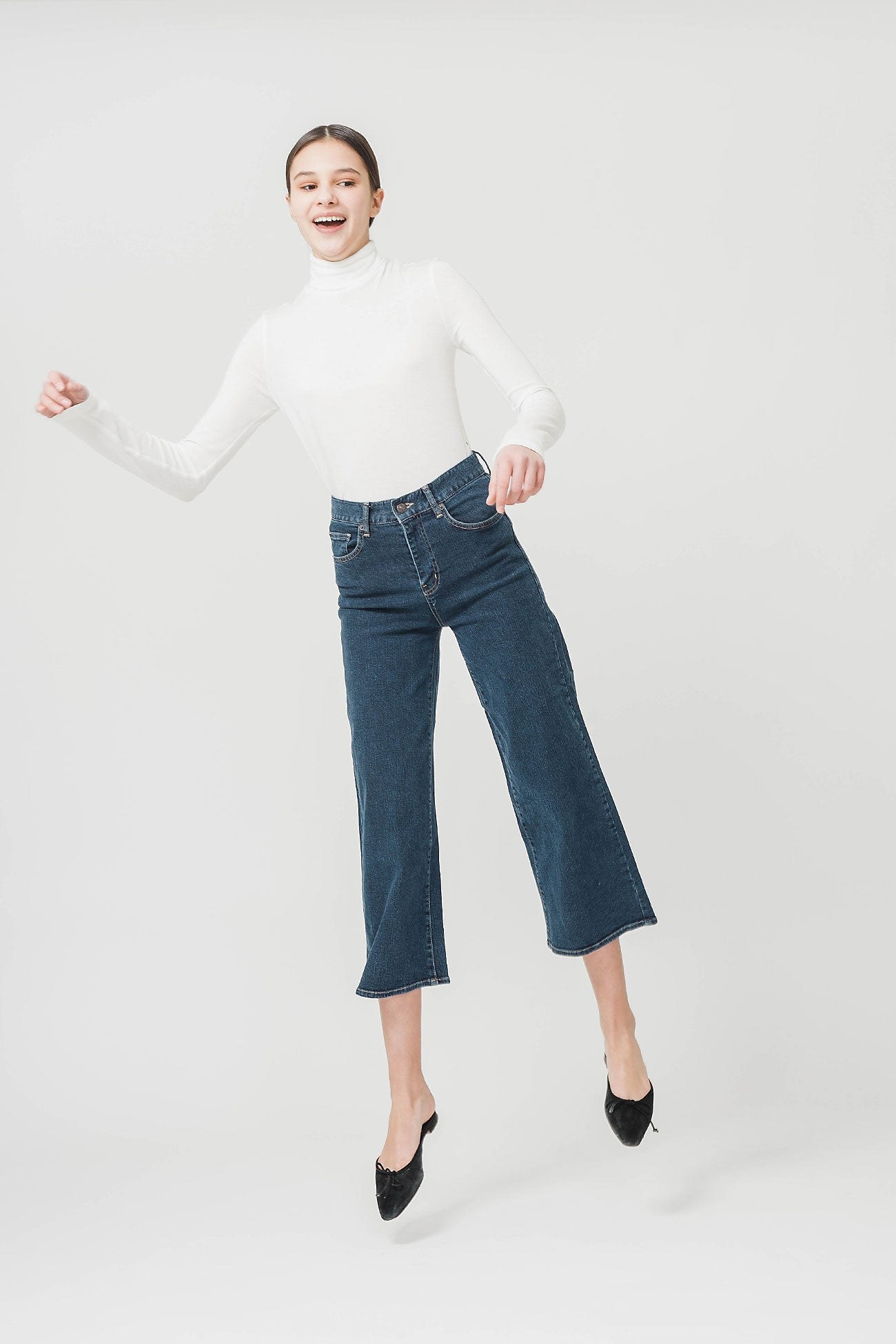 DARK BLUE LOTTIE WIDE DENIM