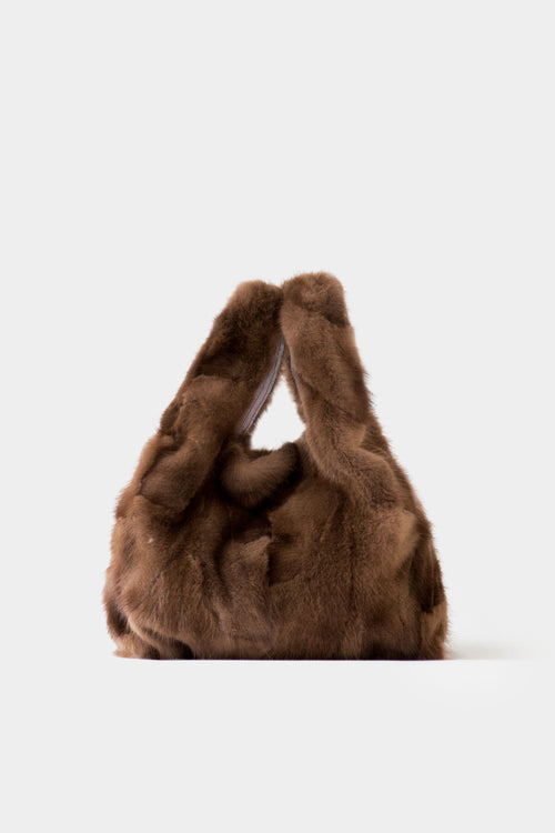 NATURAL SALI MINK BUCKET BAG