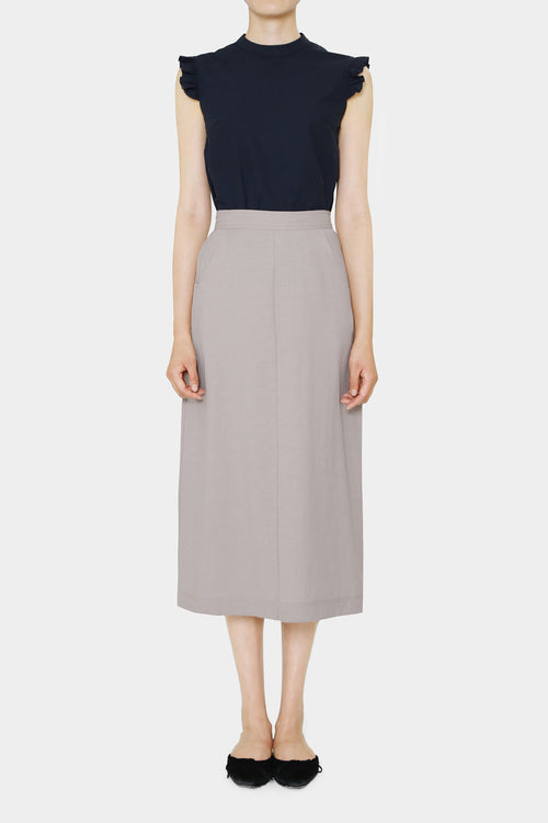 OATMEAL PENELOPE LINEN LONG SKIRT