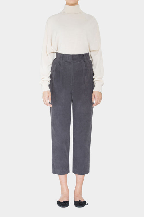GREY SIMONE CORDUROY HIGHWAIST PANTS