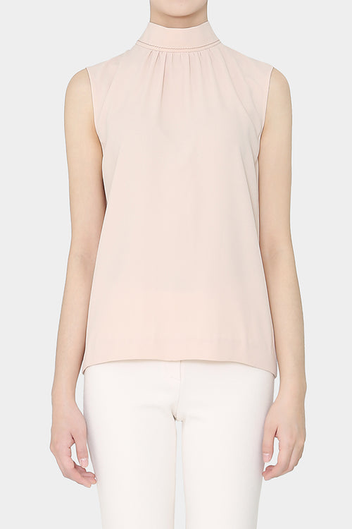 BABY PINK MONIQUE SLEEVELESS BLOUSE