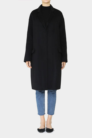 BLACK JANNA RAGLAN TRENCH