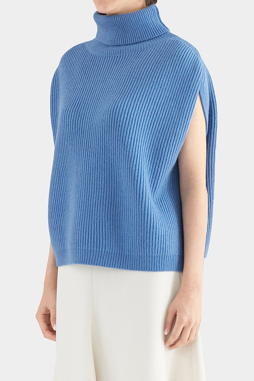 BLUE RIN TURTLENECK KNIT VEST