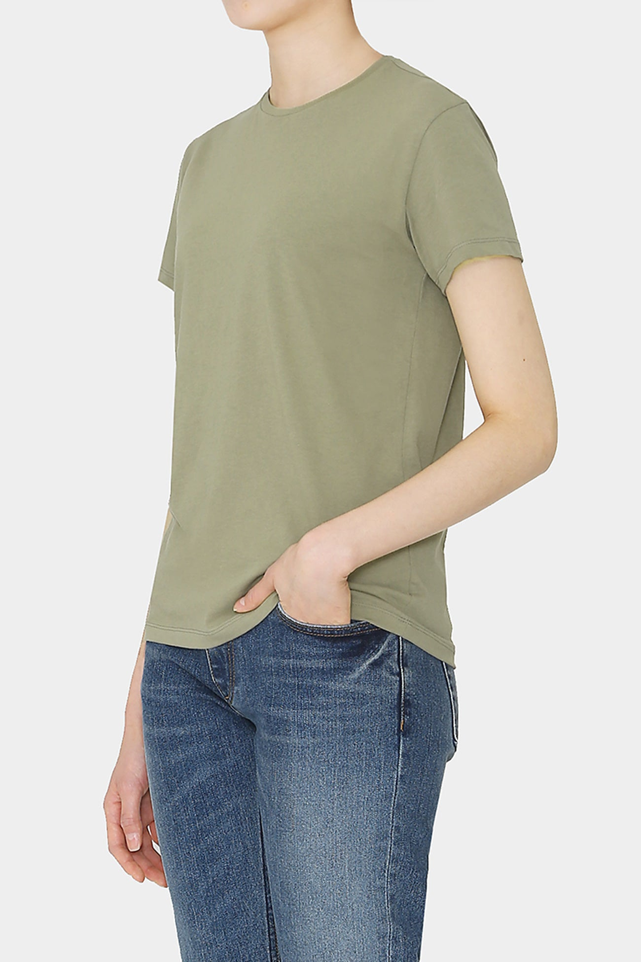 FADED OLIVE VIN COTTON T-SHIRT