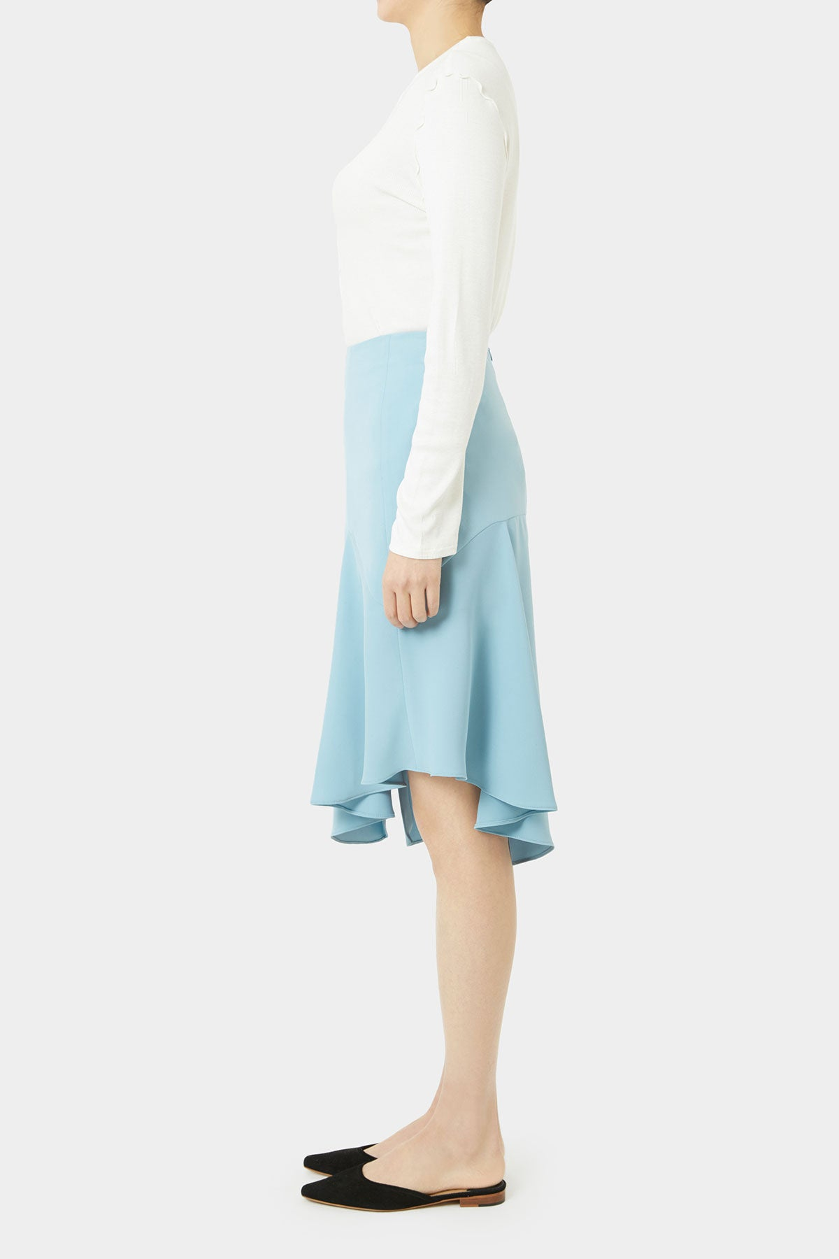 SKY AMAN SLIT SKIRT