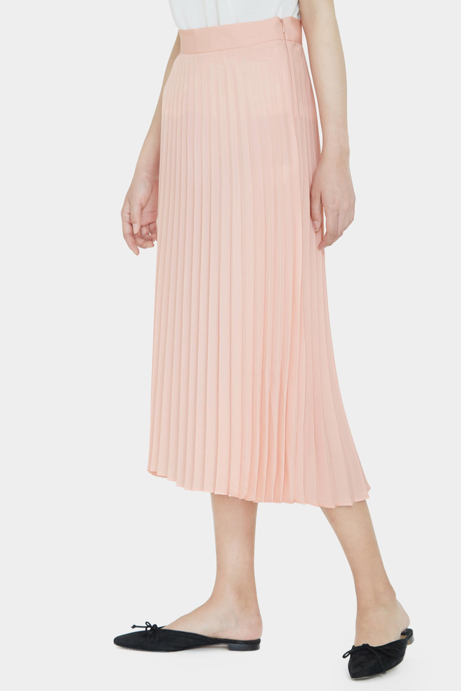 BABY PINK LILY PLEATED TAILORED SKIRTS
