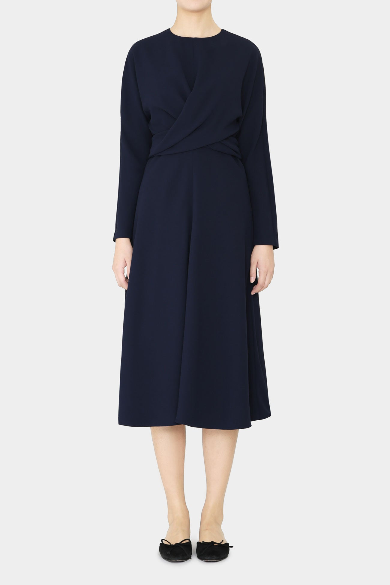 NAVY ELSE WRAP DRESS