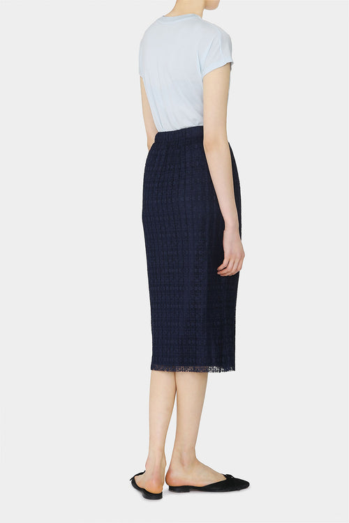 MIDNIGHT JANE LACE PENCIL SKIRT