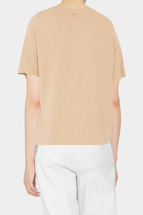 CAMEL HANNA WIDE SLEEVE T-SHIRT