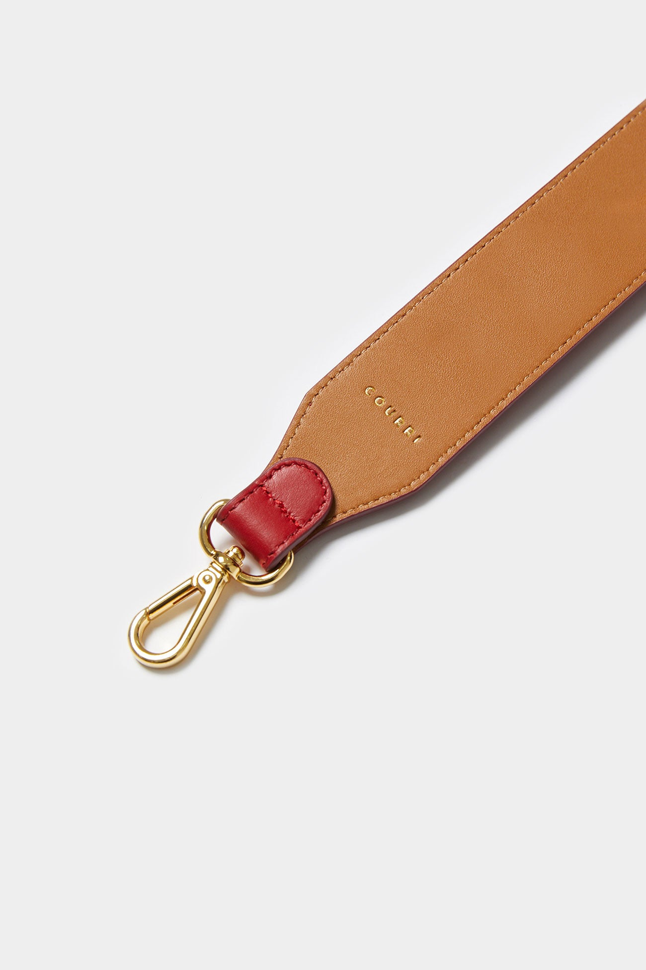 RED CODIE EMBELLISHED LEATHER STRAP [Long]