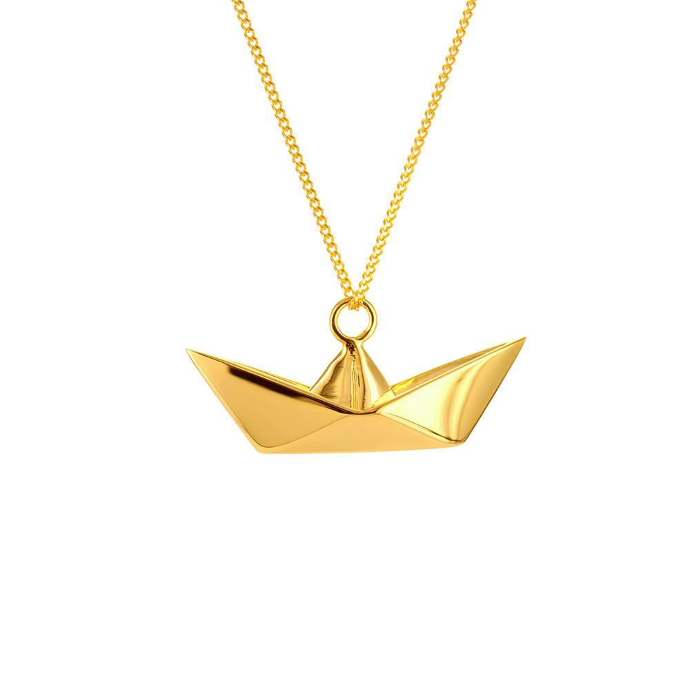 Boat Necklace - Origami Jewellery - THE POMMIER - 1