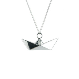 Boat Necklace - Origami Jewellery - THE POMMIER - 4