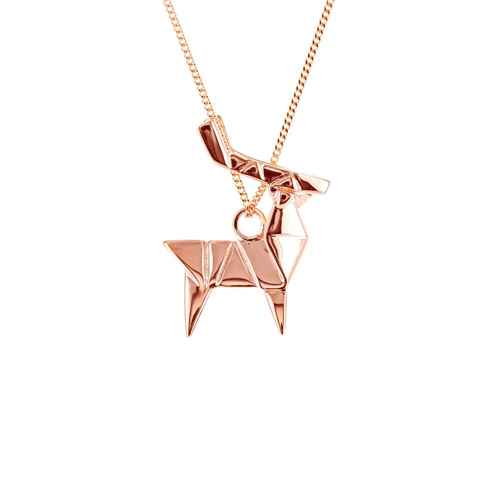 Deer Necklace - Origami Jewellery - THE POMMIER - 1