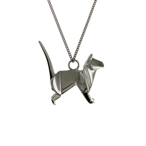 Cat Necklace - Origami Jewellery - THE POMMIER - 1