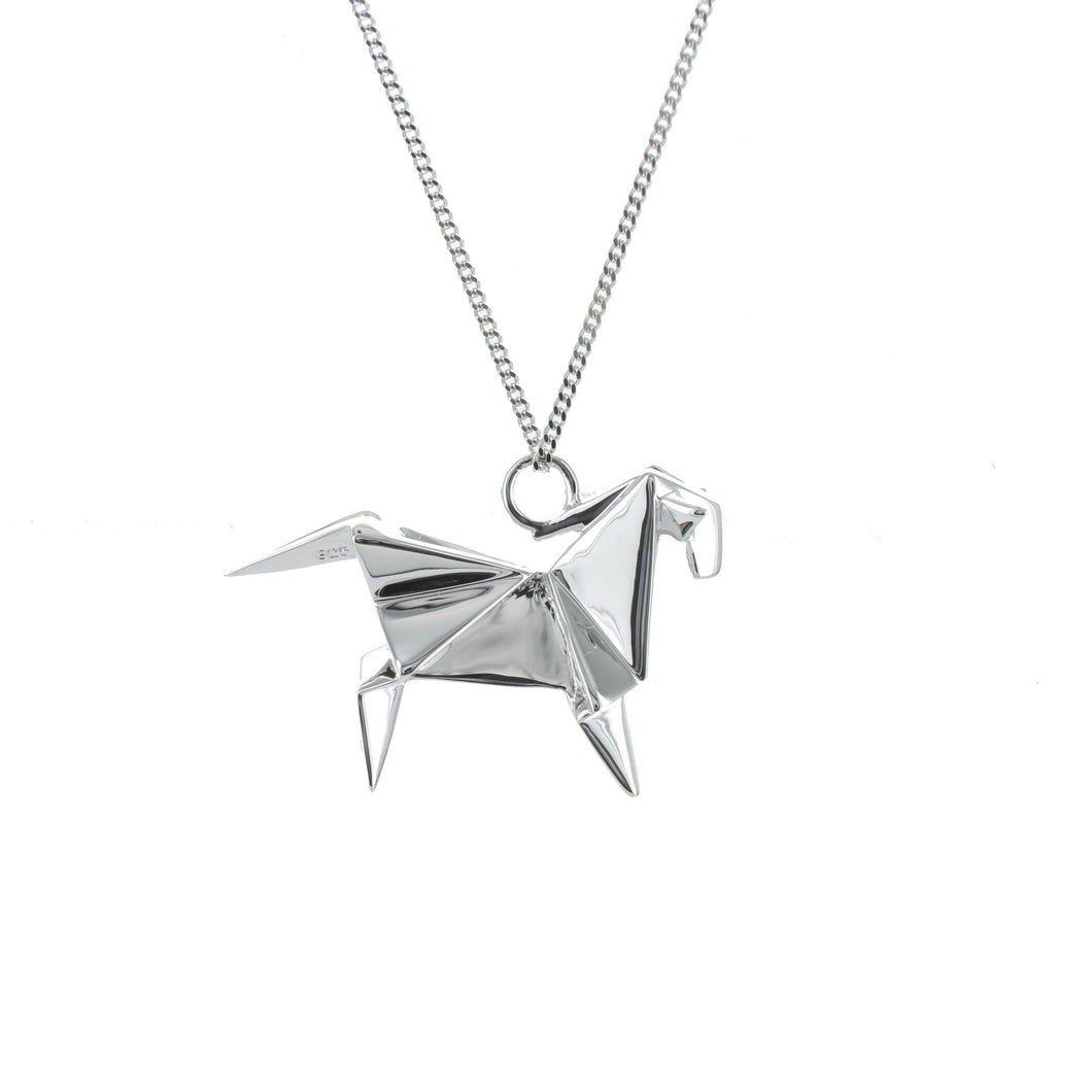 Horse Necklace - Origami Jewellery - THE POMMIER - 1