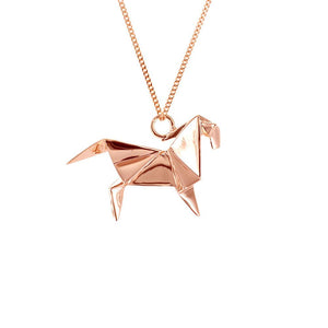 Horse Necklace - Origami Jewellery - THE POMMIER - 3