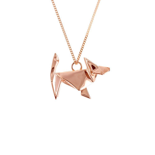 Dog Necklace - Origami Jewellery - THE POMMIER - 1