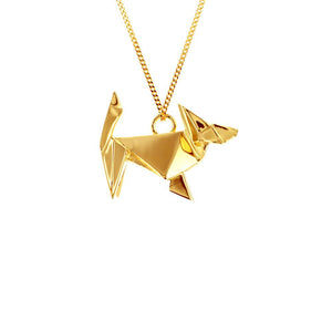 Dog Necklace - Origami Jewellery - THE POMMIER - 2