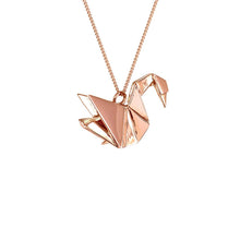 Swan Necklace - Origami Jewellery - THE POMMIER - 2