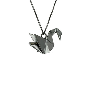Swan Necklace - Origami Jewellery - THE POMMIER - 3