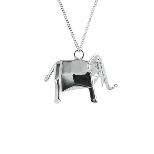 Elephant Necklace - Origami Jewellery - THE POMMIER - 1