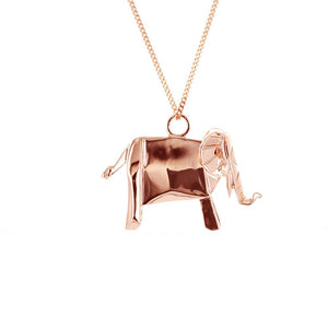 Elephant Necklace - Origami Jewellery - THE POMMIER - 3