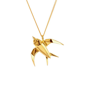 Swallow Necklace - Origami Jewellery - THE POMMIER - 2