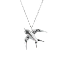 Swallow Necklace - Origami Jewellery - THE POMMIER - 3