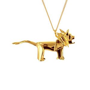 Lion Necklace - Origami Jewellery - THE POMMIER - 3