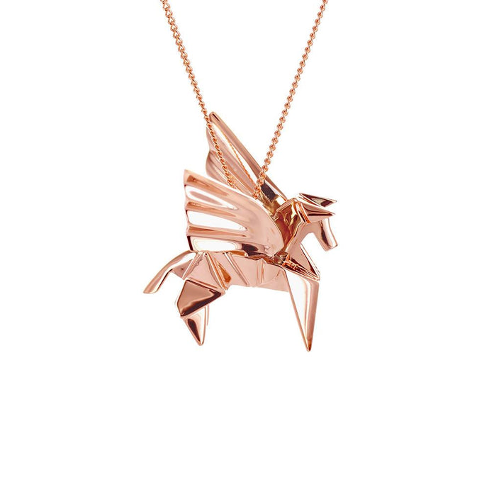 Pegasus Necklace - Origami Jewellery - THE POMMIER - 1