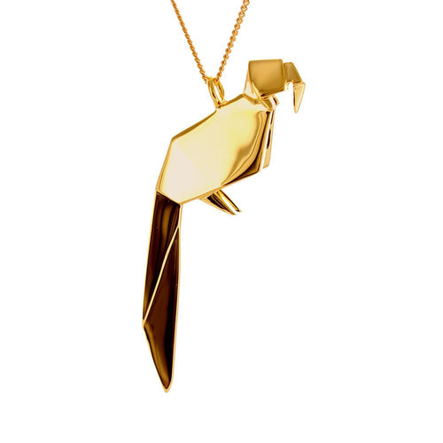 Parrot Necklace - Origami Jewellery - THE POMMIER - 1
