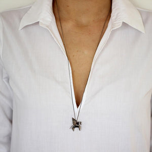 Pegasus Necklace - Origami Jewellery - THE POMMIER - 5