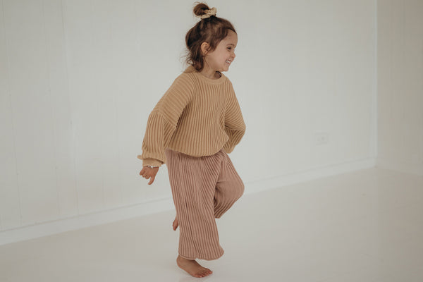 Essential knit pant | Strawberry