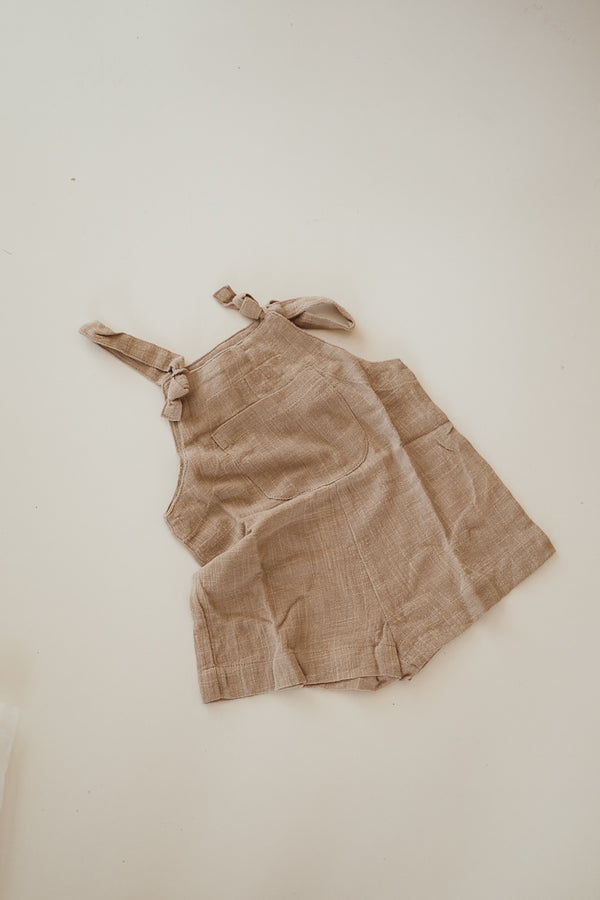 Short Marlow overalls | Vintage brown