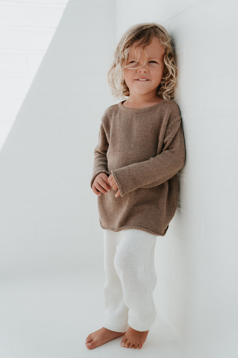 Essential knit jumper | Mocha