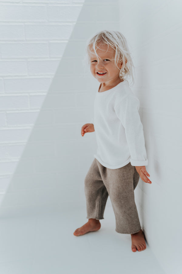 Essential knit 3/4 pants | Mocha
