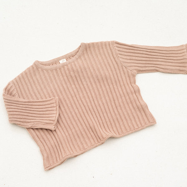 Essential knit jumper | Strawberry