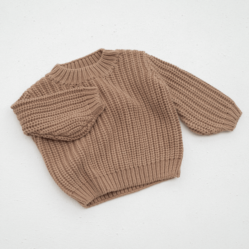 Chunky knit jumper | Chocolate PRE ORDER