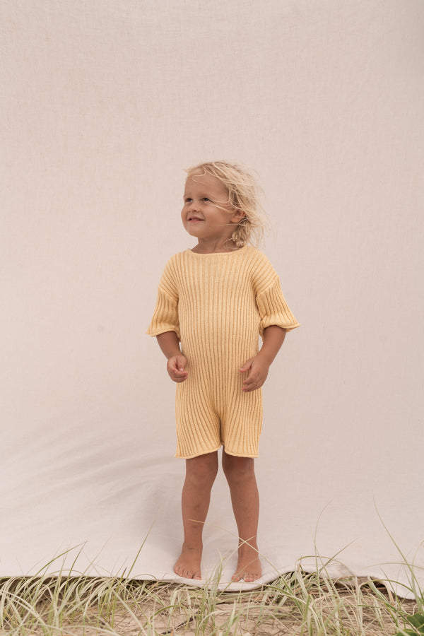 Essential knit Romper | Sunshine