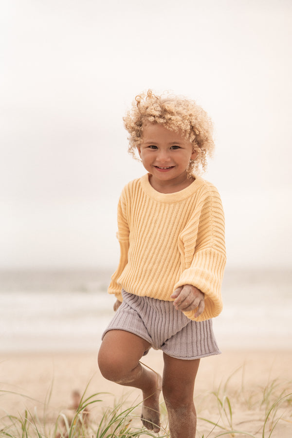 Essential knit Pullover | Sunshine