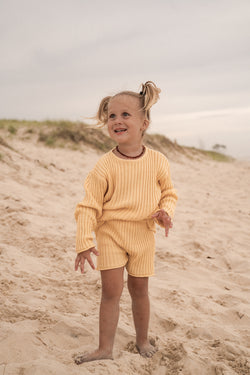 Essential knit shorts | Sunshine